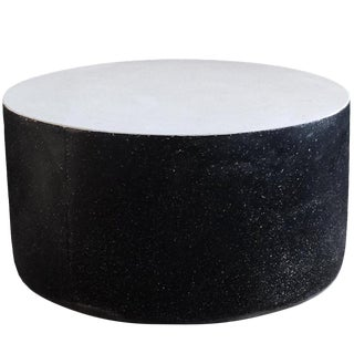 Cast Resin 'Millstone' Coffee Table in B/W Finish by Zachary A. Design For Sale