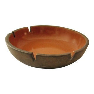 Heath Pottery Orange Ashtray