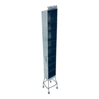 Postmodern Sculptural Studio Crafted Steel Shelving Unit For Sale