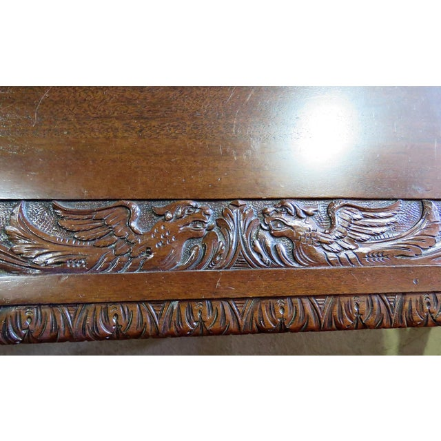 Carved Walnut Console Table For Sale In Philadelphia - Image 6 of 6