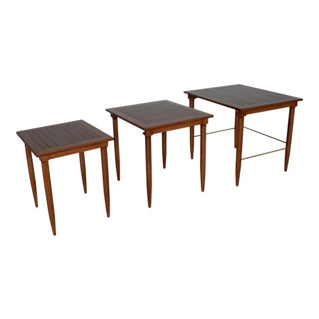 1950s Mid-Century Modern Tomlinson Nesting Tables - Set of 3 For Sale