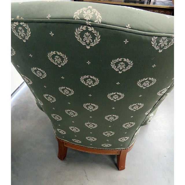 Jansen Regency Style Chair & Ottoman - A Pair For Sale - Image 9 of 10