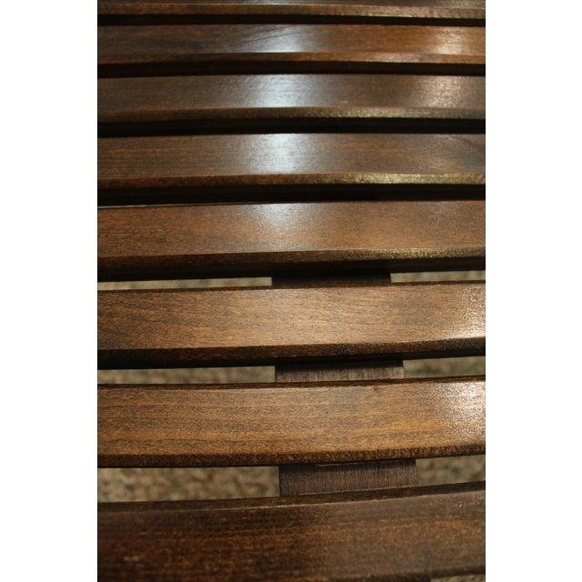 Mid Century Danish Modern Walnut Slat Bench/Coffee Table - Image 10 of 11