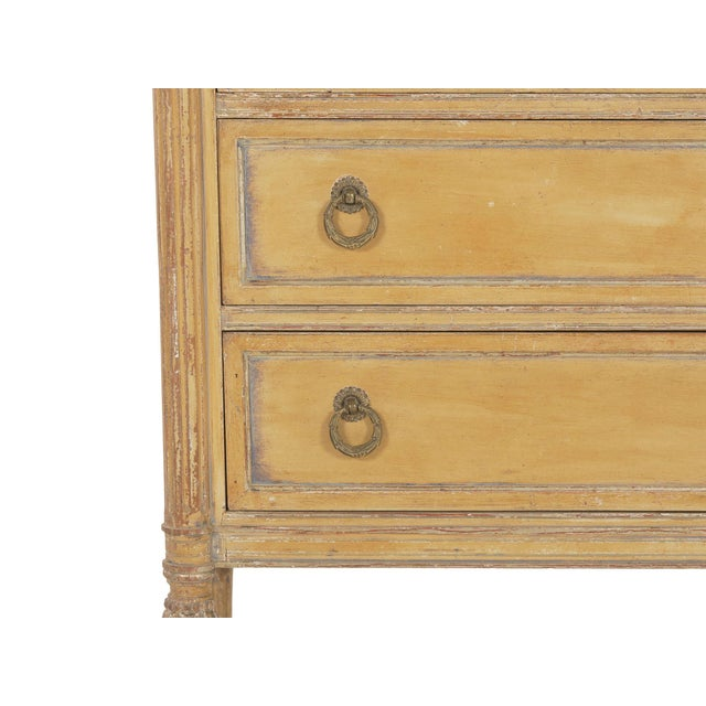 Circa 1940s French Louis XVI Style Antique Painted Desk Over Chest of Drawers For Sale - Image 9 of 13