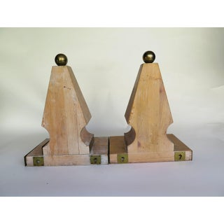 1980s Shabby Chic Brass and Pine Wood Corbels - a Pair Preview