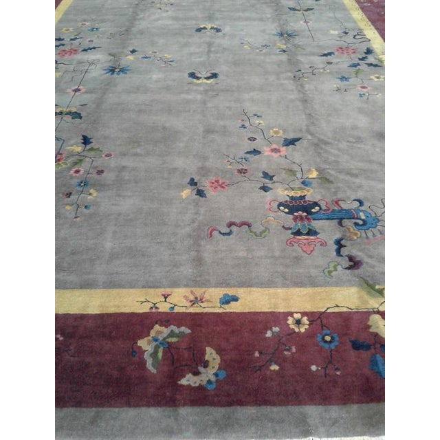 Art Deco Early 20th Century Antique Chinese Rug - 12′ × 17′ For Sale - Image 3 of 7