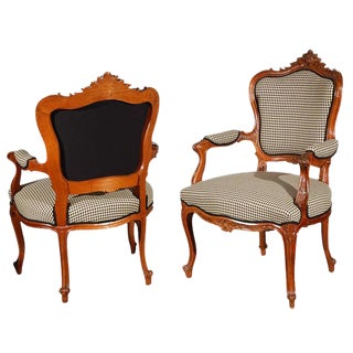 Louis XV Arm Chairs - A Pair For Sale