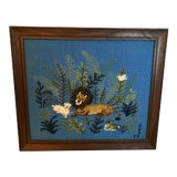 Image of Late 20th Century Hand Made Framed Needlepoint Art For Sale