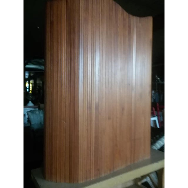 Mid-Century Modern French Slatted Wood Room Divider For Sale - Image 3 of 8