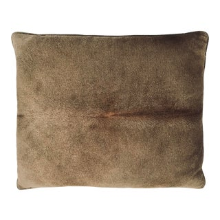 Contemporary Studio Sofield Hair on Hide and Linen Decorative Down Throw Pillow For Sale