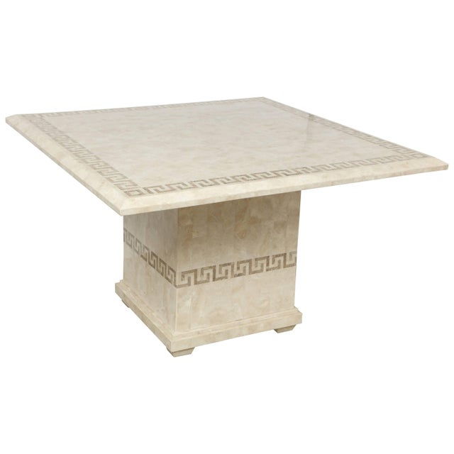 Square Marble Dining or Conference Table For Sale - Image 11 of 11