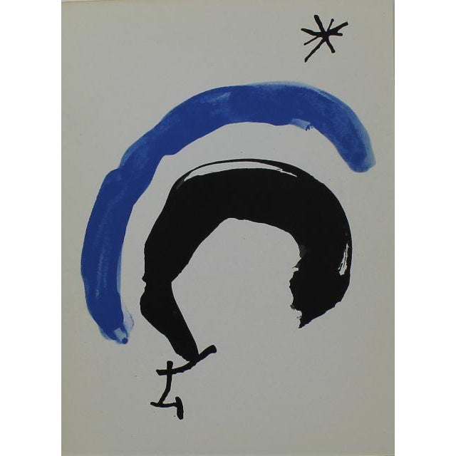Here are three lithographs created by Joan Miro specifically for the catalog of an exhibition of his work at the Musée...