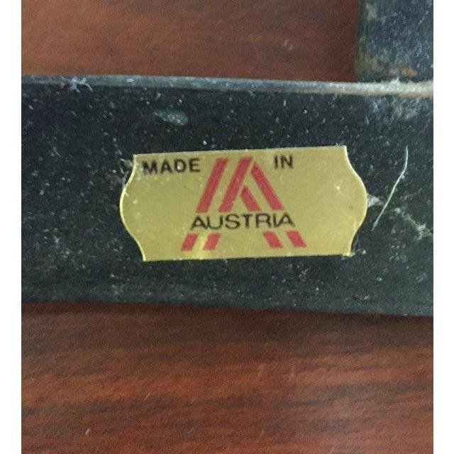 Vintage Modernist Iron Birch Fireplace Tool Set - Image 6 of 6
