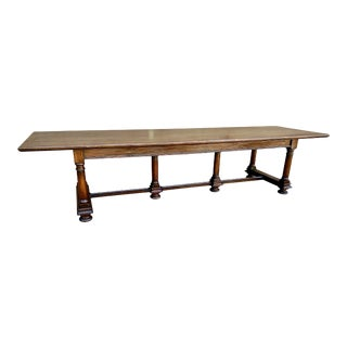 Baroque-Style Refectory Table For Sale