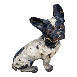 Early 20th Century Hubley Style Iron French Bulldog For Sale