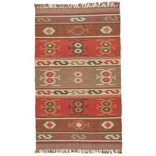 Jaipur Living Thebes Handmade Geometric Multicolor Area Rug - 9′ × 12′ For Sale
