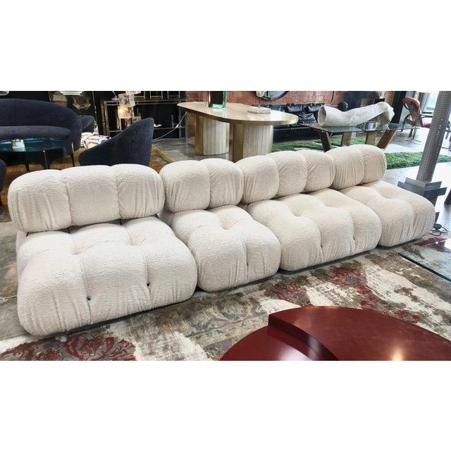 Camaleonda sectional sofa by Mario Bellini, 1970s Mario Bellini, modular 'Camaleonda' sofa reupholstered in white sheep...