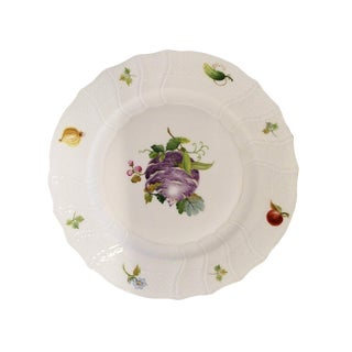 "Herend ""Fruits & Flowers"" Porcelain Luncheon Plate For Sale"