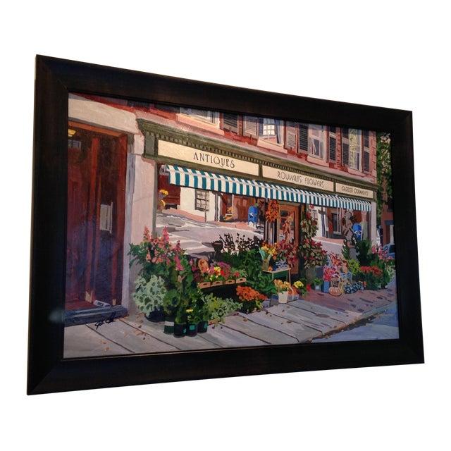 'Rouvalis Flowers' Original Painting - Image 1 of 4