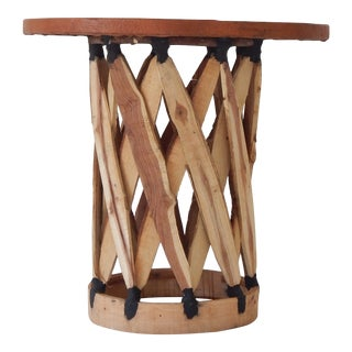 Leather & Wood Equipale Table