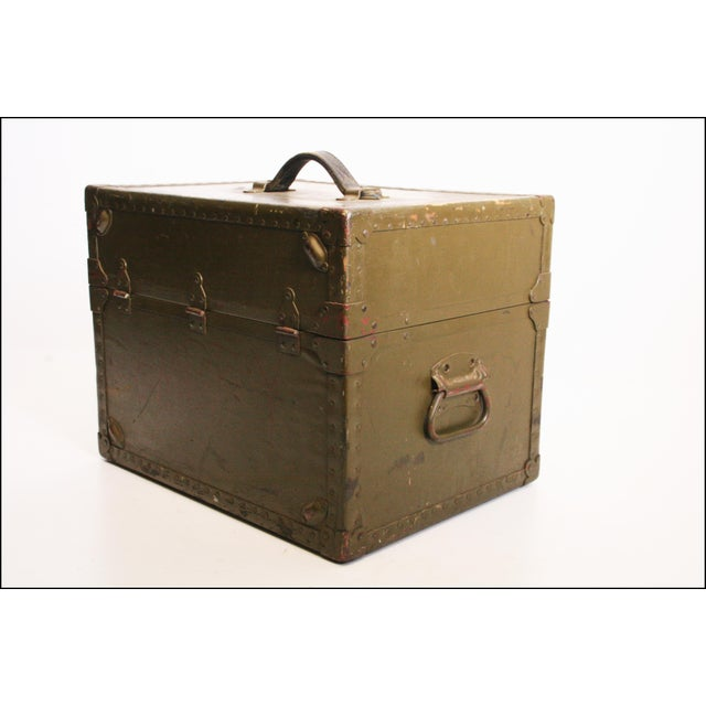 Vintage Industrial Green Military Hard Case - Image 7 of 11