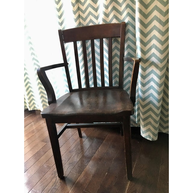 Murphy Chair Company Vintage Wooden Armchair Image 3 Of 4
