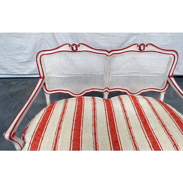 W. & J. Sloane W&J Sloane Louis XV Style Settee For Sale - Image 4 of 9