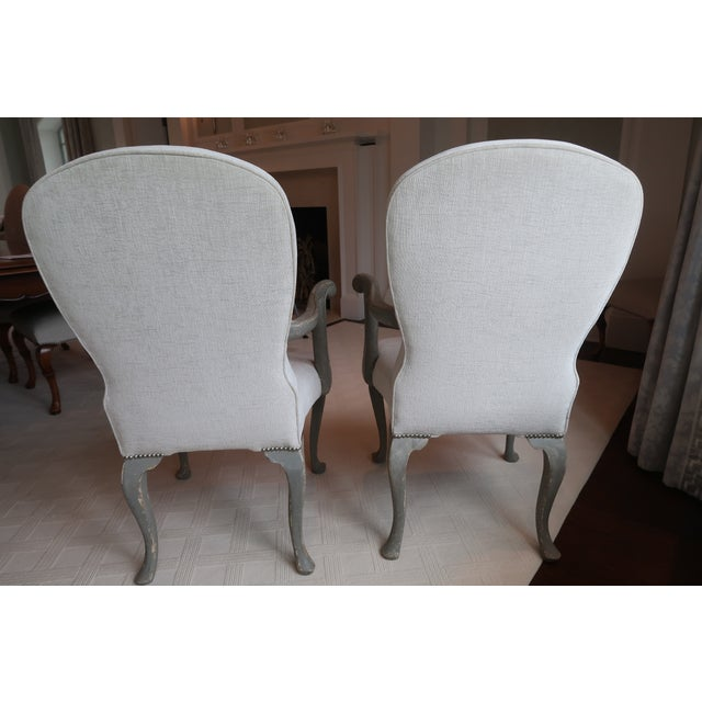 Antique Belgium Armchairs - a Pair For Sale - Image 4 of 12
