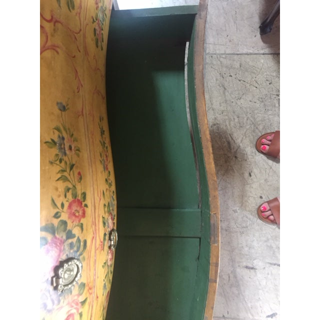 Late 19th Century Italian Painted Commode/ Slant Front Writing Desk For Sale In Los Angeles - Image 6 of 13