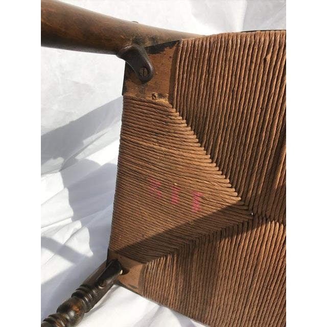 Antique Ladder Back Rush Seat Chair - Image 8 of 9