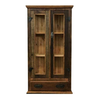 Reclaimed Wood Small Display Cabinet