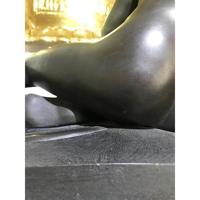 """Mid 19th Century 19th Century """"The Dying Gaul"""" Bronze Statue Signed M Amadoi N 'Napoli' For Sale - Image 5 of 13"""
