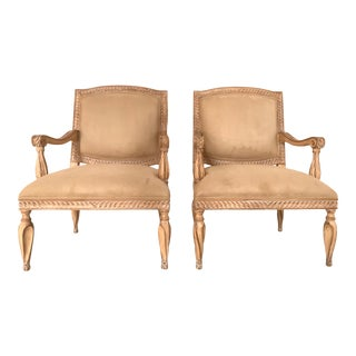 Pair of Kreiss Collection Arm Chairs For Sale