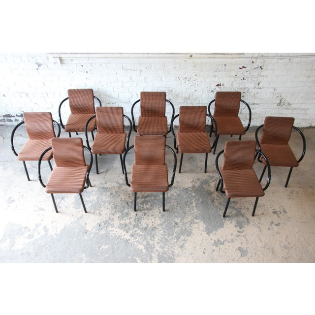 """Ettore Sottsass for Knoll """"Mandarin"""" Armchairs - a Pair For Sale - Image 9 of 11"""