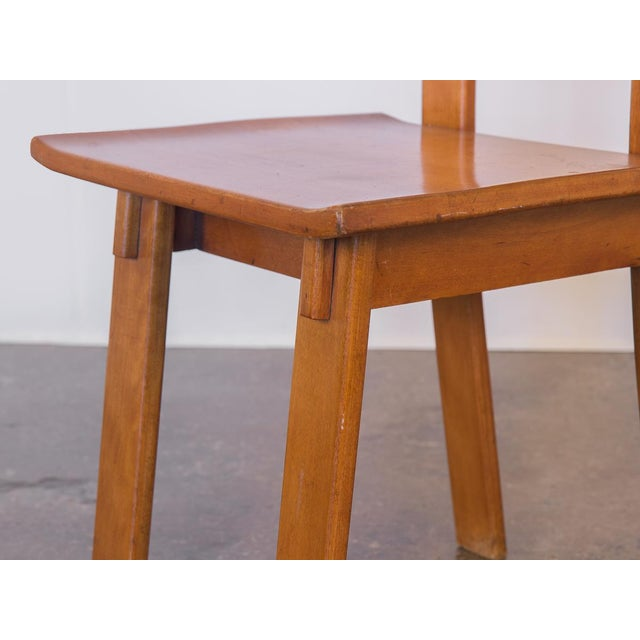 Brown 1935 Russel Wright American Modern Side Chair For Sale - Image 8 of 11