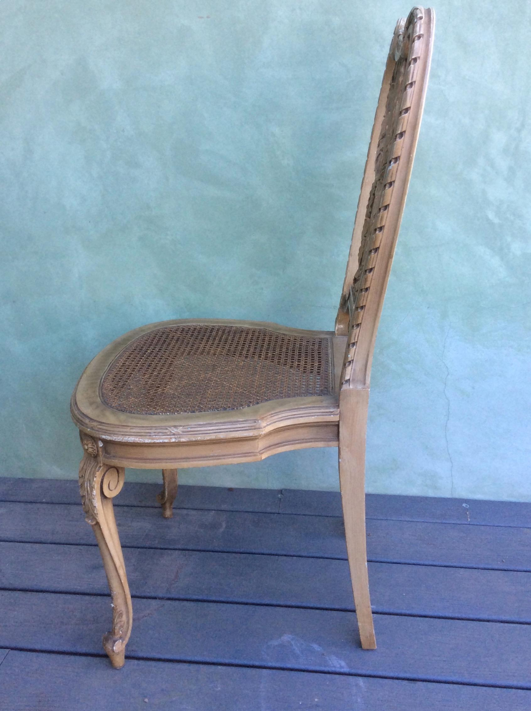 Italian Cane Seat Chairs, Set Of 4   Image 2 Of 5