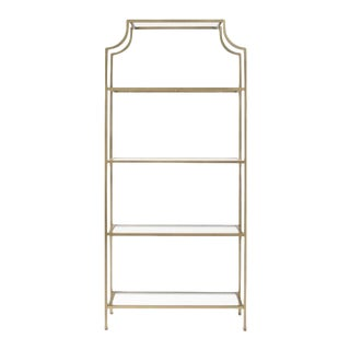 Hollywood Regency Gold Metal Pagoda Etagere