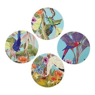 Palm Beach Paradise by Allison Cosmos Coasters - Set of 4 For Sale