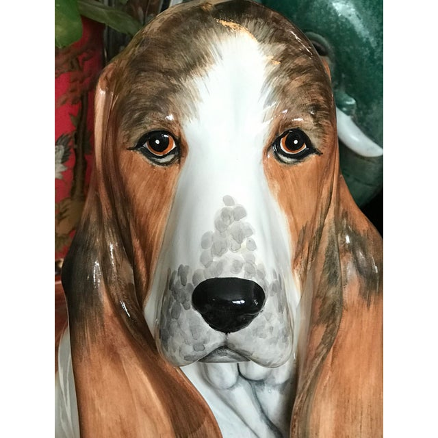 Look at those eyes!!! This is an exquisite example of the quality of hand-crafted Italian ceramics. This life size, hand...