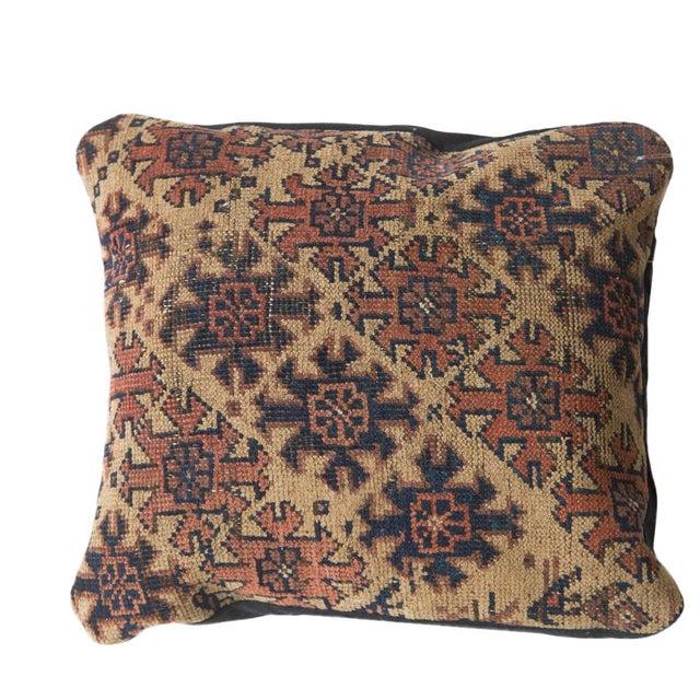 Antique Turkmen Rug Fragment Pillow For Sale