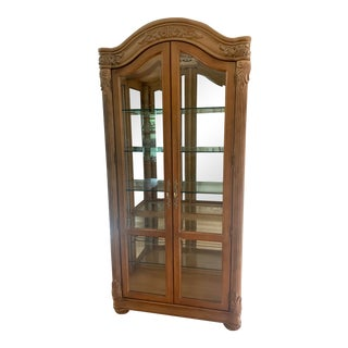 Bernhardt Italian Inspired Athen Curio Cabinet With Interior Lighting For Sale