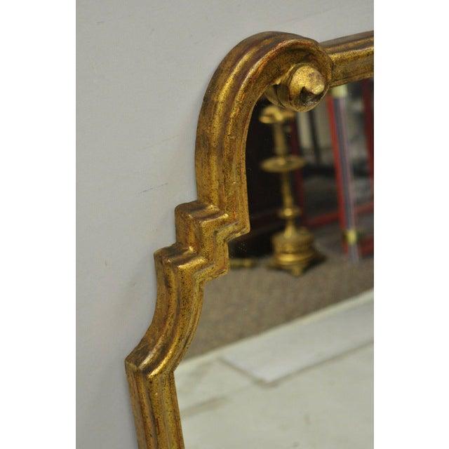 Italian Gold Giltwood Hollywood Regency Scroll Wall Console Mirror Kent Coffey For Sale In Philadelphia - Image 6 of 11