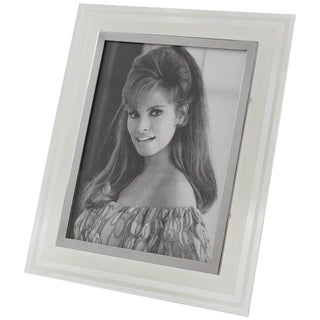 French Hollywood Regency Glass Picture Photo Frame, Circa 1940s For Sale