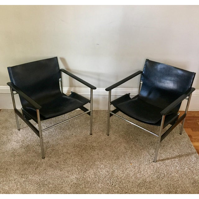 Charles Pollock for Knoll 657 Arm Chairs - A Pair - Image 4 of 11