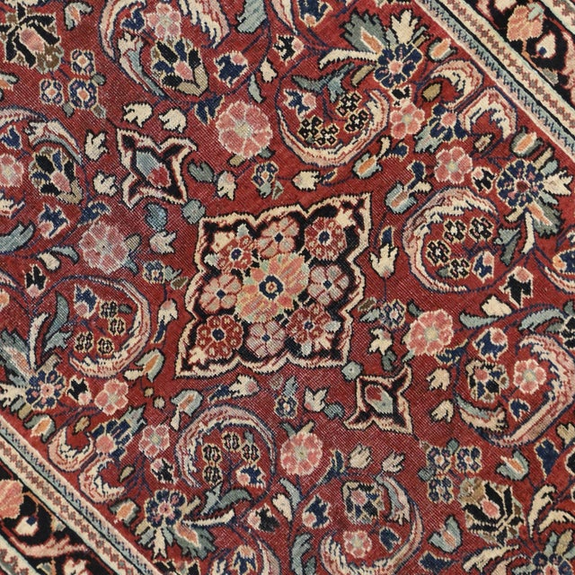 """Vintage Persian Mahal Rug - 4'5"""" x 6'10"""" For Sale - Image 4 of 4"""