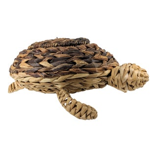 Mario Lopez Torres Style Rattan Turtle Sculpture For Sale