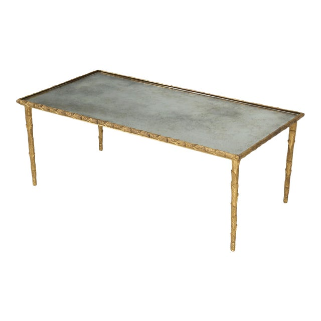 Baguès Solid Bronze Gilt Coffee Table For Sale