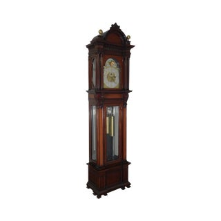 Tiffany & Co. New York Antique Mahogany 9 Tube Grandfather Clock For Sale