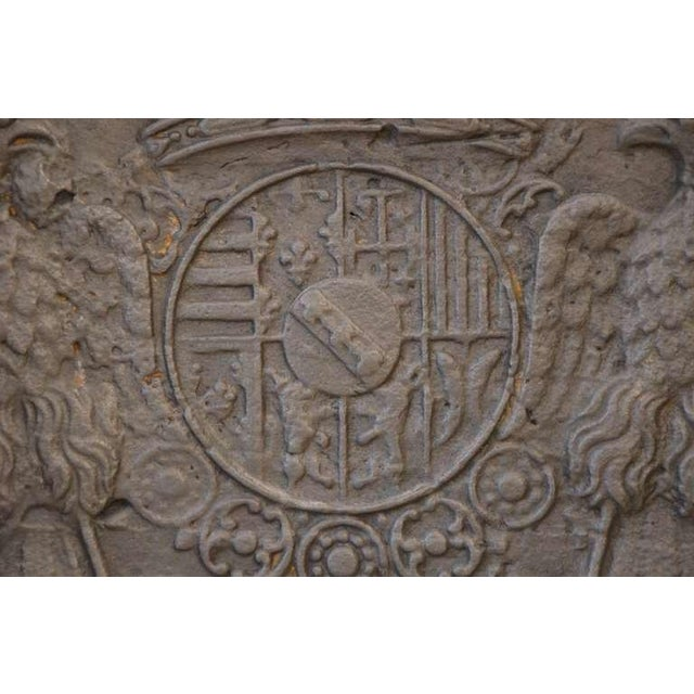 18th C. Large Fireback - Coat of Arms Lorraine from 1704 For Sale - Image 6 of 11