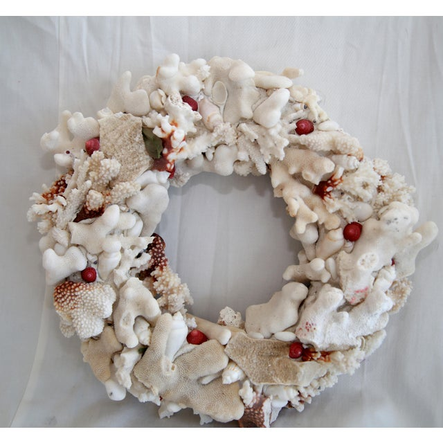 Hand Made Coral Wreath - Image 2 of 3